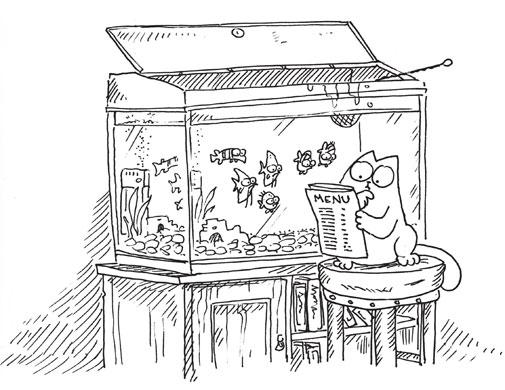 Simon's cat aquarium